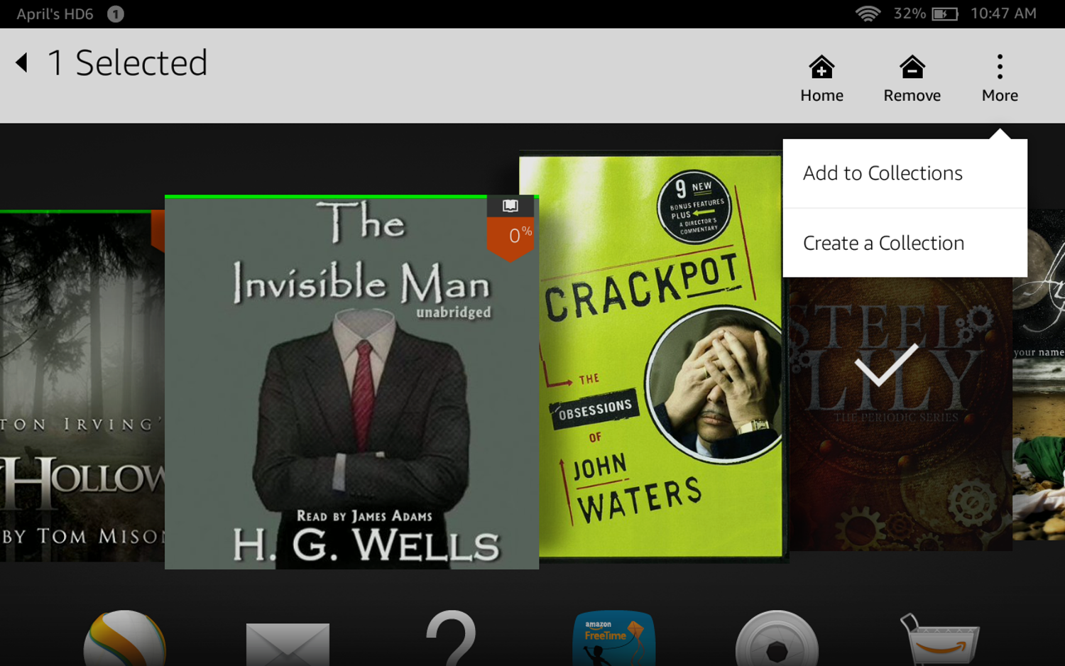 how do you purchase a book at the kindle app