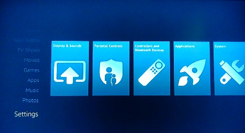 Fire TV Settings Menu