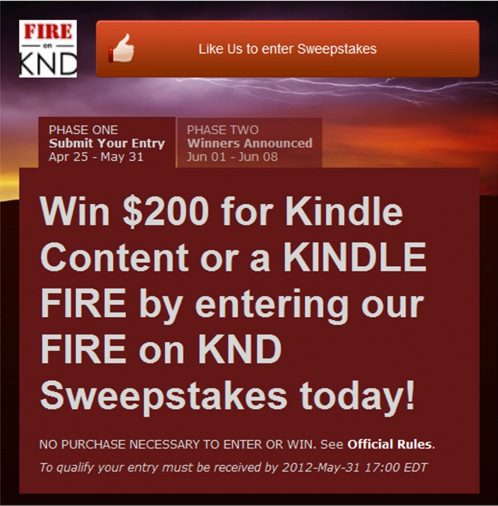 Enter Our Drawing To Win A Kindle Fire Or $199 Amazon Gift Card!