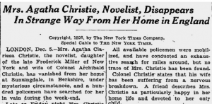 A day-by-day look at what really happened during Agatha Christie's infamous infamous 11-day disappearance in 1926